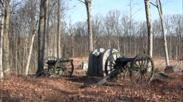 The National Park Service started clearing trees from Power's Hill after the land was preserved by the Civil War Trust.