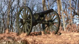 This is one of 6 cannon that perch atop Power's Hill.